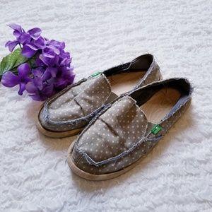 Sanuk Dotty Blue Flats Shoes Size 9